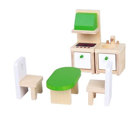 מטבח מעץ לילדים הכולל חמישה חלקים BGIFTS