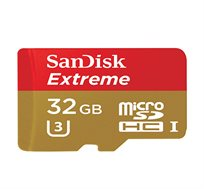 כרטיס זיכרון SanDisk microSDHC בנפח 32GB בתקן 10Class כולל מתאם microSDXC ואחריות לכל החיים