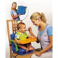 מושב הגבהה לילד 3 ב 1 בכחול/ירוק/כתום