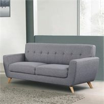 ספה מעוצבת בעלת 3 מושבים בסגנון רטרו דגם גרייס HOME DECOR