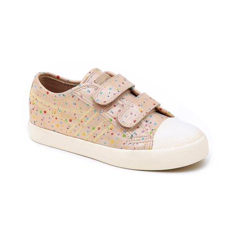 Gola Coaster Shimmer Dot - נעלי סניקרס בצבע ורוד מטאלי בעיטור נקודות