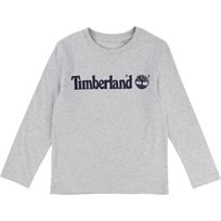 TIMBERLAND חולצה (16-6 שנים) - אפור לוגו
