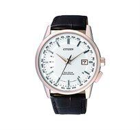 שעון יד לוויני לגבר CITIZEN ללא צורך בסוללה עם זכוכית ספיר