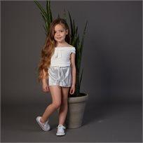 גופיית Oro לילדות (מידות 2-7 שנים) לבן קשירה