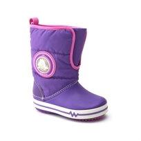 CrocsLights Gust Boot PS - מגף לילדים בצבע סגול עם אורות
