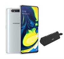 """סמארטפון Galaxy A80 מסך """"6.7 זיכרון 8GB+128GB אחריות יבואן רשמי+ רמקול נייד מתנה"""