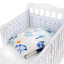 סט מצעים 3 חלקים למיטת תינוק 100% כותנה - קופיף