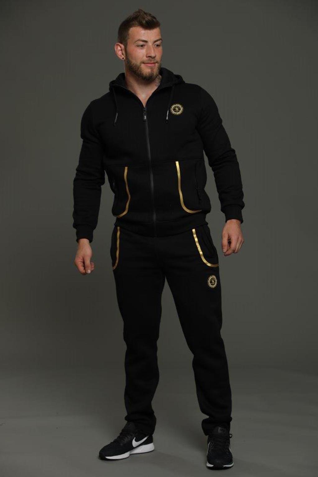 חליפה ספורטיבית עם קפוצ'ון לגבר - צבע לבחירה