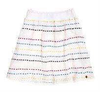 חצאית Superdry Sara Smocking לנשים בצבע לבן