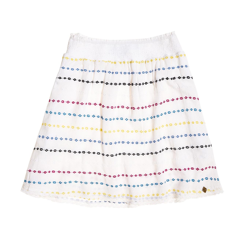 חצאית Sara Smocking לנשים - לבן