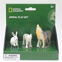 מארז חיות ג'ונגל ויער National Geographic - זאבים וארנב