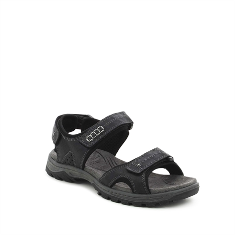 סנדלים שחורים עם רצועות סקוץ