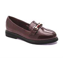 נעלי לק CIELO עם אבזם זהב - בורדו