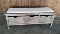 הדום ספסל ישיבה מעץ 3 מגירות אחסון 120 ס''מ 128900