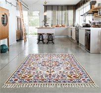 שטיח מעוצב לבית בגווני אדמה במגוון גדלים לבחירה