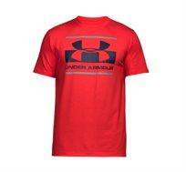 חולצת אימון לגברים Under Armour SS18 BLOCKED SPORTSTYLE LOGO בצבע אדום