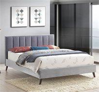 מיטת זוגית בריפוד בד קטיפתי דגם RENESANS