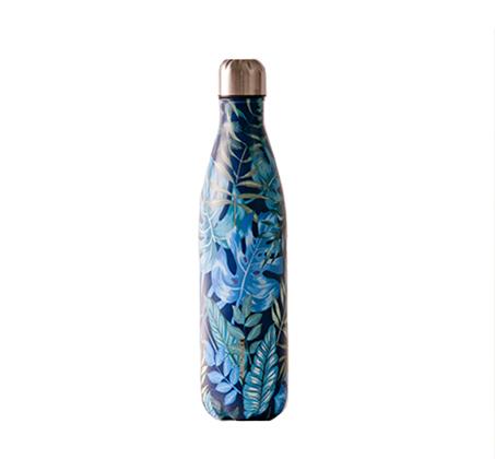 """בקבוק 750 מ""""ל דופן כפול Tropic Leaf דקאל נירוסטה"""