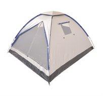 אוהל ל-6 אנשים הכולל 3 חלונות וכיסוי פוליאסטר להצללה - משלוח חינם