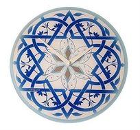 שעון קיר זכוכית מראה מגן דוד