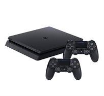 קונסולה Playstation 4  SLIM בנפח 1TB כולל 2 בקרים רוטטים וסטנד שולחני מתנה