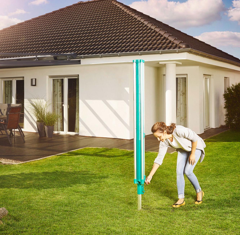 מתקן לייבוש כביסה קל לפתיחה ולנעילה עמיד בפני תנאי מזג האוויר השונים LEIFHEIT גרמניה - משלוח חינם - תמונה 6