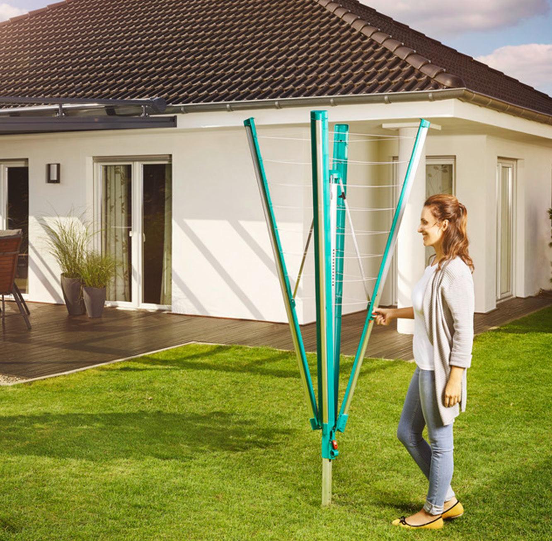 מתקן לייבוש כביסה קל לפתיחה ולנעילה עמיד בפני תנאי מזג האוויר השונים LEIFHEIT גרמניה - משלוח חינם - תמונה 5