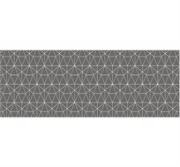 ראנר ארוך גיאומטרי אפור מעוצב לשולחן חג ושבת בעל מגן חום להנחת כלים חמים