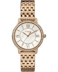 שעון יד אופנתי לאישה משובץ אבני סברובסקי