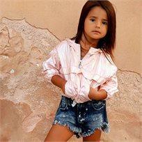 חולצת Oro לילדות (מידות 2-7 שנים) חולצת ניילון ורודה