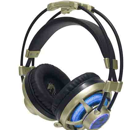 אוזניות גיימינג הכוללות נורת LED מופעלת USB מיקרופון מובנה מתאים לPS4+XBOX