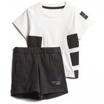adidas חליפה(3 חודשים - 4 שנים) - שחור לבן