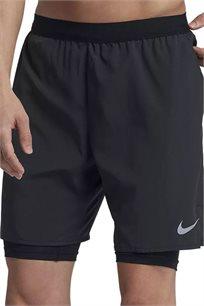 מכנסי ריצה קצרים לגברים - שחור