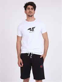Replay גברים - חולצה לבנה מותג