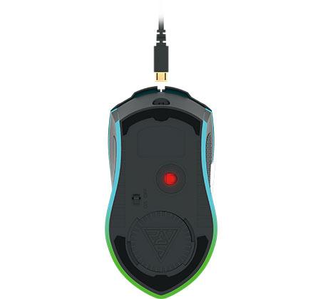 עכבר גיימינג אופטי עם תאורת RGB GAMEDIAS דגם HADES M1  - תמונה 2