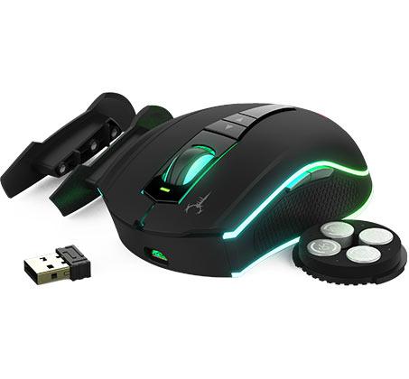 עכבר גיימינג אופטי עם תאורת RGB דגם HADES M1