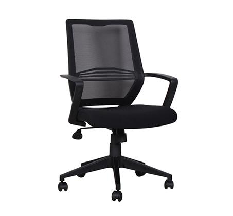 כיסא משרדי עם גב רשת וידיות דגם DROR