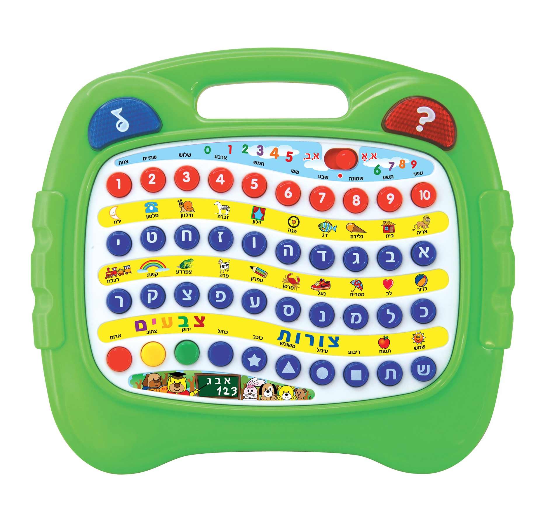 משחק לימוד צבעים, צורות, אותיות ומספרים