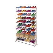 מעמד נעליים מודולרי שיעשה לכם סדר בחדר השינה, עם 10 מדפים המכיל עד כ-50 זוגות נעליים