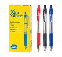 2 חבילות 12 יחידות עט כדורי לחצן Xtra Office בצבע אדום
