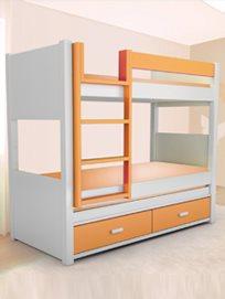 מיטה ממדרגה אחרת! מיטת קומותיים מעץ מלא ב-₪3490 או מיטה משולשת ב-₪2990 מבית גבעת ברנר