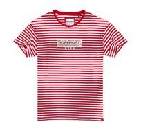 חולצת טי שרט פסים SUPERDRY בצבע אדום לבן