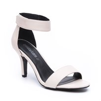Seventy Nine - נעלי עקב בצבע לבן עם סגירת סקוץ בקרסול