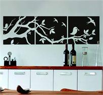 מדבקת קיר - שלכת, מסדרת WALL PHOTO, לעיצוב חדרי הבית ויצירת אפקט ציור על הקיר