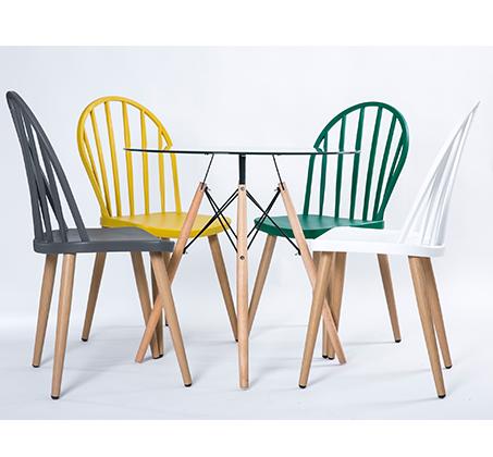 כסא במראה עץ לפינת אוכל בעיצוב מודרני בצבעים לבחירה  - תמונה 5