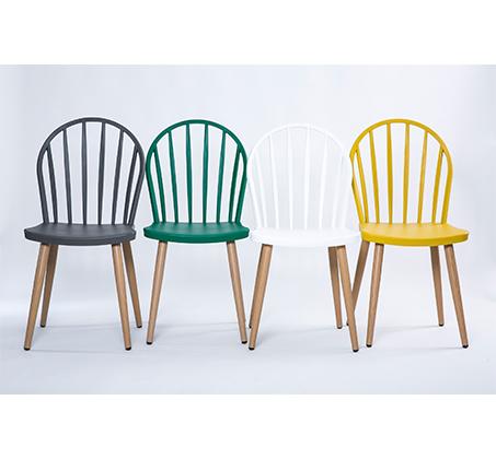 כסא במראה עץ לפינת אוכל בעיצוב מודרני בצבעים לבחירה  - תמונה 4