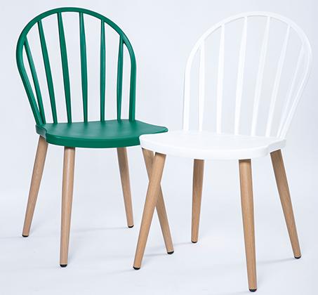 כסא במראה עץ לפינת אוכל בעיצוב מודרני בצבעים לבחירה  - תמונה 3
