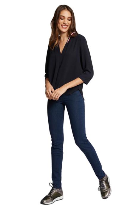 חולצת וי MORGAN לנשים - כחול כהה