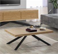 שולחן לסלון בעיצוב מודרני בעל רגלי מתכת שחורות דגם אורן