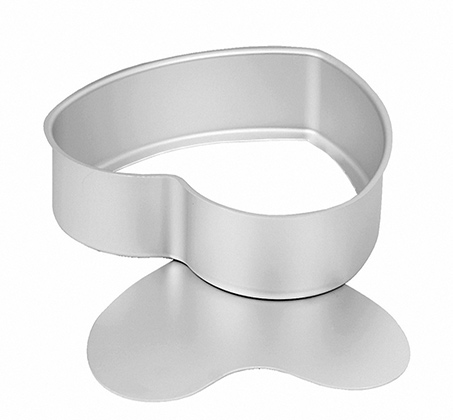 """לב תחתית נשלפת 7.6X25 ס""""מ Silver Anodized"""